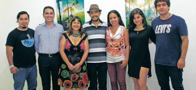 Leonardo Arciniegas, Javier Cote, Sandra Cuesta, Alexander Jaime, Daniela Beltrán, Alejandra Figueroa y Fabián Grimaldos.