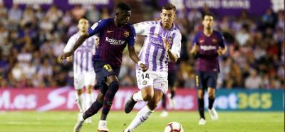 Con un gol del francés Ousmane Dembélé, Barcelona derrotó 1-0 al Valladolid en condición de visitante. Con esto se mantiene al comando de la Liga de España.