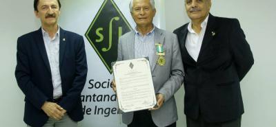 Hernán Calvo, José Cavanzo Guiza y Pedro Rafael Melo.