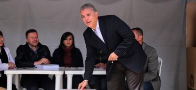 """""""Vinimos a expresar el rechazo a la corrupción"""": Iván Duque"""