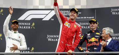 El alemán Sebastian Vettel, que comandó de principio a fin, ganó el Gran Premio de Bélgica y le recortó siete puntos al líder el británico Lewis Hamilton, que terminó segundo. Tercero fue Max Verstappen.