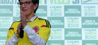El pasado domingo, la Consulta Anticorrupción, impulsada por Claudia López (foto) quedó ad portas de ser avalada, luego de que solo le faltaran 468.220 votos para llegar al umbral.