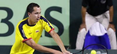 El tenista santandereano Daniel Elahi Galán jugará con Colombia en el duelo ante Argentina.