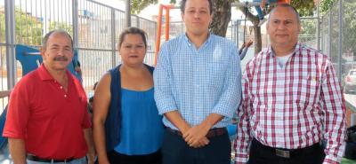 Henry Plata, Esmeralda Pinzón, Álvaro Galvis y Raúl Carrillo.