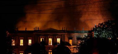 Un incendio acabó con el Museo Nacional de Río, el más antiguo de Brasil
