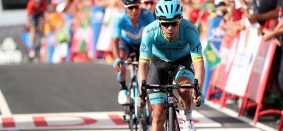 Miguel Ángel López se mostró muy activo al final de la etapa nueve y terminó cuarto, con Nairo Quintana pisándole los 'talones', y ascendió al séptimo lugar de la general, mientras que el de Cómbita es tercero y Rigoberto Urán es octavo. Hoy habrá jornada de descanso.