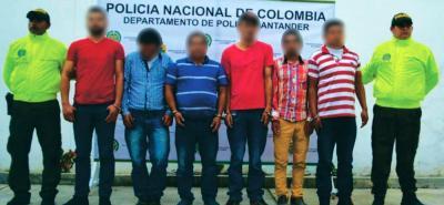 Cayó presunta banda de delincuentes 'Los Cebudos' en Santander