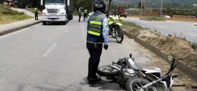 El accidente se registró en el  en el kilómetro 12+700 metros de la vía Palenque Café Madrid.