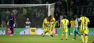 Atlético Bucaramanga derrotó a Atlético Nacional 3-2, en la noche de este miércoles.