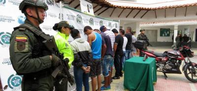 Ocho personas fueron detenidas, las cuales seguían órdenes de alias 'Toño'.
