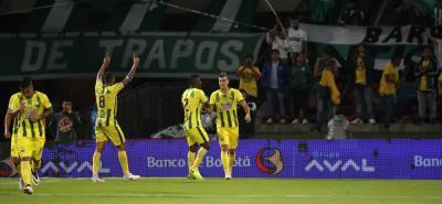 El delantero santandereano Michael Rangel, con sus dos goles ante Atlético Nacional, llegó a cuatro tantos en el semestre y se transforma en la principal carta del elenco 'Leopardo' para vulnerar las redes contrarias.