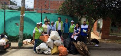 En la jornada de Reciclatón, la comunidad de Cabecera del Llano de Lebrija recolectó 117,3 kilos de elementos reciclables.