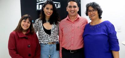 Sandra Cuesta, Samara Díaz, Javier Cote y Beatriz Vanegas.