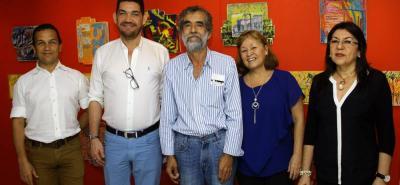 Eugenio Cueto, Ciro Miguel Caballero, Augusto Vidal, Daniela Prada y Amparo Caballero.