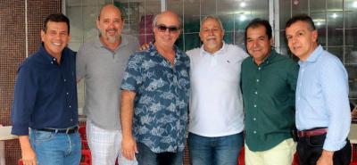 Mario Peralta, Carlos Silva, Rancy García, Gabriel Rodríguez, Ángel Rangel y Gabriel Ramírez.