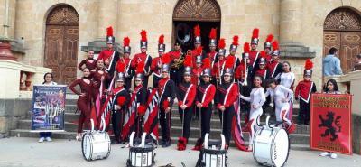 Tres premios, incluendo mejor tambor y mejor grupo de bastones, logró la Novena Legión en el concurso de Chocontá.