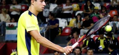 El santandereano Daniel Galán tuvo una digna presentación ante el argentino Guido Pella, pero una molestia en su muñeca izquierda le impidió conseguir la victoria en la Copa Davis.