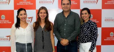Tatiana Suárez Barajas, Johanna Marcela Reyes, Guillermo Meléndez Lizarazo y Ester Tovar Amador.