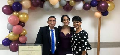 Sergio Angulo Prada, Doris Gisela Angulo Amorocho y Doris Amorocho Bayona.