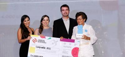 Paula Muñoz, Karina Bonilla, Juan Camilo Beltrán y Luz Stella Ortiz Román.
