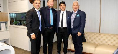 Fabricio Monroy, Kiyotaka Nakao, Julián Calpa y Diego Calpa.