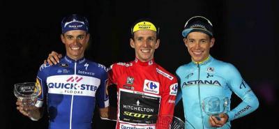 'Superman' López logró su segundo podio tras el del Giro de este mismo año.