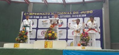 Cinco medallas, distribuidas en dos de oro, una de plata y dos de bronce, fue el balance de Santander en el Campeonato Nacional Sub 13, Sub 15 y Cadetes de Judo.