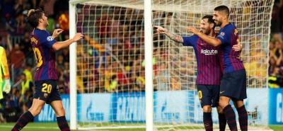 Con triplete de Lionel Messi el Barcelona logró la victoria ante el PSV