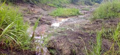 Este es el sector de la parte alta del barrio Paseo del Mango, de San Gil, en donde según el estudio hecho por contratistas de la CAS, la saturación hídrica del terreno está en promedio a 1,5 metros de profundidad.