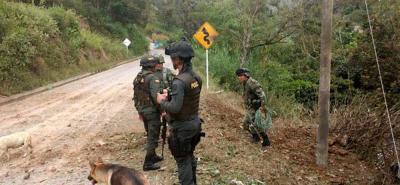 La Policía y el Ejército descubrieron los explosivos.