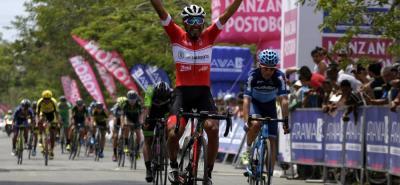 El pedalista cundinamarqués Miguel Ángel Rubiano Chávez del Coldeportes - Zenú - Sello Rojo, se impuso en la primera etapa del Clásico RCN 2018, que se disputó ayer en Cali.