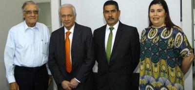 Édgar Páez, Jorge Reynolds, César Augusto Serrano y María Carolina Mantilla Tabares.