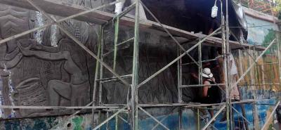 En total ya son tres los murales que han quedado plasmados en San Gil tras los intercambios gestados, uno en Unisangil, otro en el C.C. San Gil Plaza y el tercero en el hotel Yariguíes.