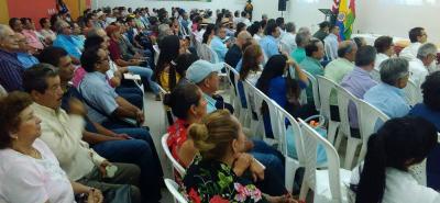 La reunión de los empresarios cafeteros se realizó en las instalaciones de Cajasan Guarigua, ubicadas en Pinchote.
