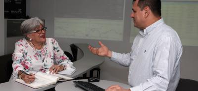 Luz Stella Rueda Cadena, directora de Ingeniería Financiera y Alfredo Díaz Claros, director Ingeniería de Mercados.