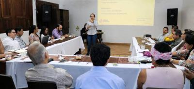 La reunión se hizo en la Unisangil. Se prevé socializar avances de la variante en el primer informe de competitividad.
