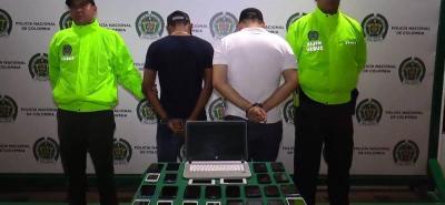 Ayer, algunos de los celulares hurtados fueron entregados a sus dueños. En lo que va corrido del año, 849 personas han sido capturadas por hurto de celulares, según informó la Policía.