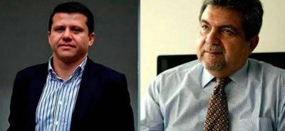Los exsenadores Plinio Olano (der.) y Bernardo 'Ñoño' Elías fueron hallados responsables de un tráfico de influencias en el entramado de corrupción que se suscitó con la firma brasileña Odebrecht.