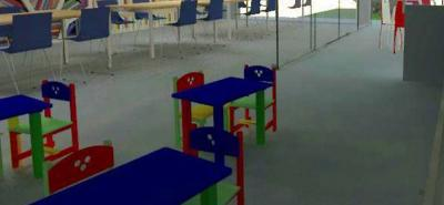 Este es el diseño que se ha establecido para la planta física. Tendrá sistema de iluminación y domo exterior.