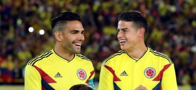 James Rodríguez y Edwin Cardona fueron convocanos nuevamente a la selección Colombia.