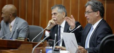El ministro de Hacienda, Alberto Carrasquilla, explicó que, hasta julio del presente año, el porcentaje de ejecución era del 49,6%.