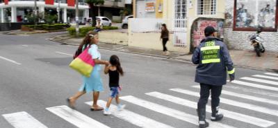 En este punto se registró el accidente de tránsito en el que perdió la vida Elbia Elena Ramírez, de 77 años.