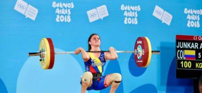 Colombia se queda con la medalla de plata en pesas en los Juegos Olímpicos de la Juventud