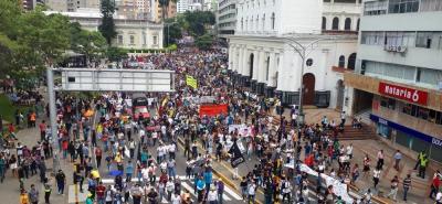 Los ejes viales de la carrera 27 y calles 36 y 56 tienen restricciones por las manifestaciones.