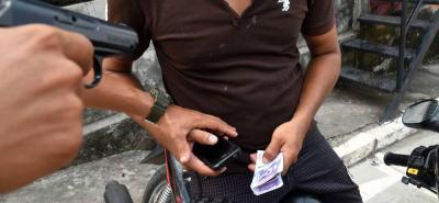 El hurto se registró ayer en el barrio Bucaramanga, sitio en donde se iba a realizar el negocio.
