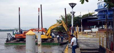 Restringen acceso al muelle flotante en terminal fluvial Yuma de Barrancabermeja