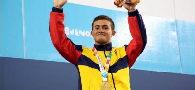 El clavadista Daniel Restrepo le entregó ayer a Colombia la tercera medalla de oro en los Olímpicos de la Juventud.