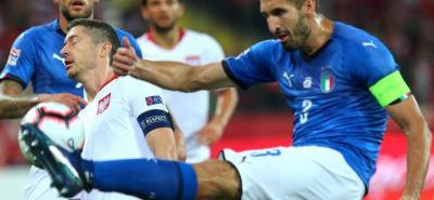 """Italia superó 1-0 a Polonia en la Liga de Naciones y acabó con una sequía de victorias de los """"azzurri"""" que se prolongó durante cinco partidos."""