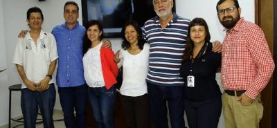 Wilson Lizcano, Mario Pizarro, Nury Suárez, Luz Gutiérrez, Julio Gómez, Sandra Cuesta y Sergio Álvarez.