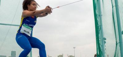 La atleta santandereana Carolina Ulloa Daza no pudo cerrar de la mejor manera su participación en los Olímpicos de la Juventud, y terminó en el puesto 15 en lanzamiento de martillo.